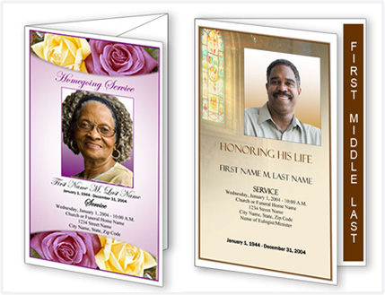 Funeral Programs funeral program templates – Free Memorial Program Template